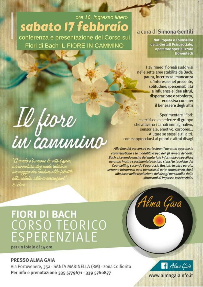Fiori Di Bach 02.Fiori Di Bach 17 Febbraio Ingresso Libero Alma Gaia
