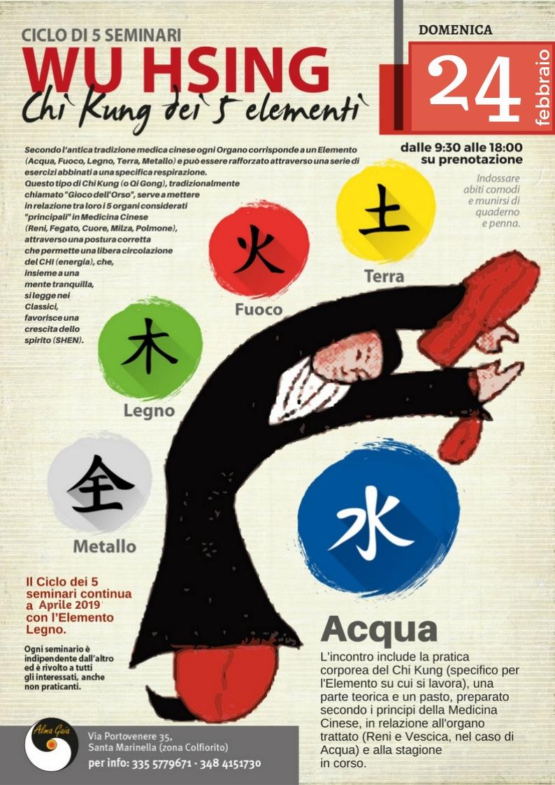 WU HSING, Chi Kung dei 5 elementi, Fase Acqua, 24 febbraio