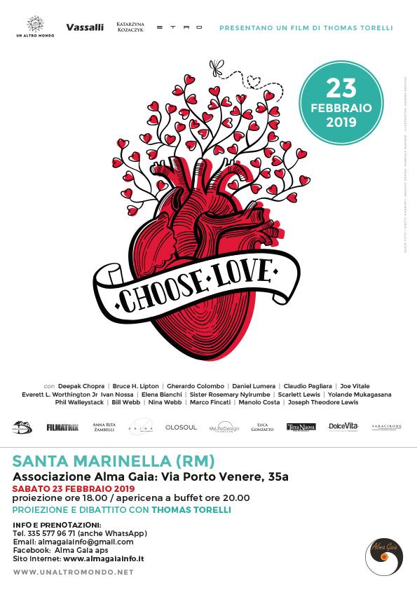 Choose Love con Thomas Torelli – sabato 23 Febbraio ore 17.30