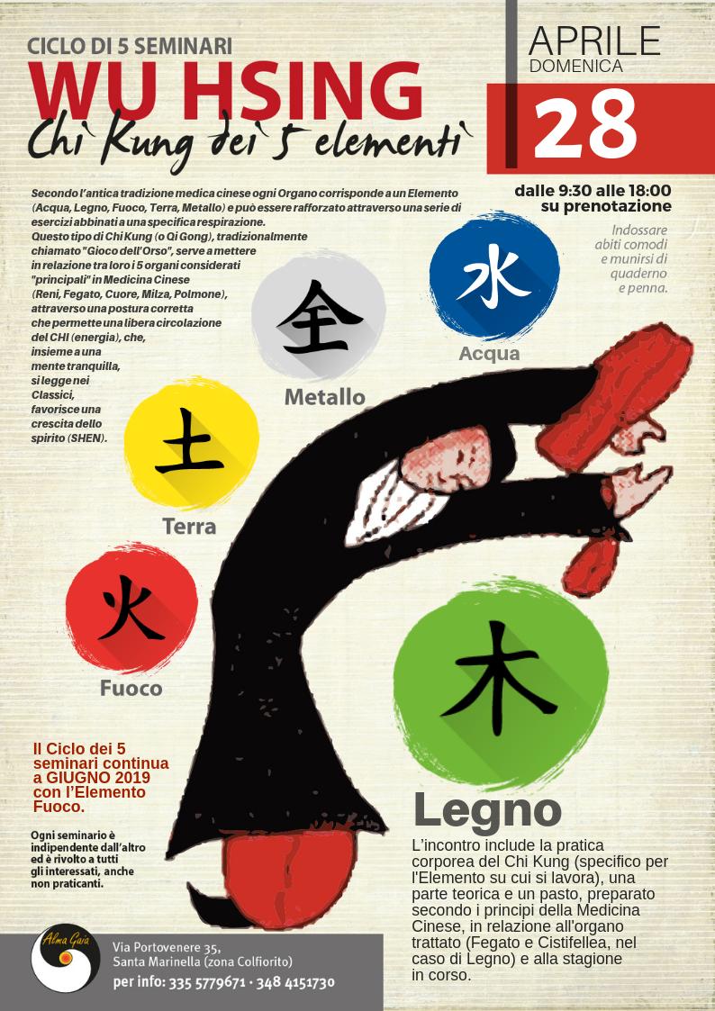 WU HSING, Chi Kung dei 5 elementi, Fase Legno, 28 aprile