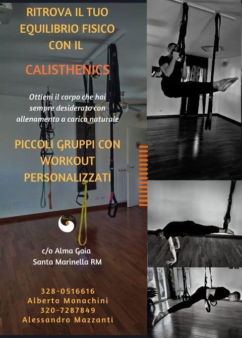 CALISTHENICS, lun-merc-ven 14.30-16.30