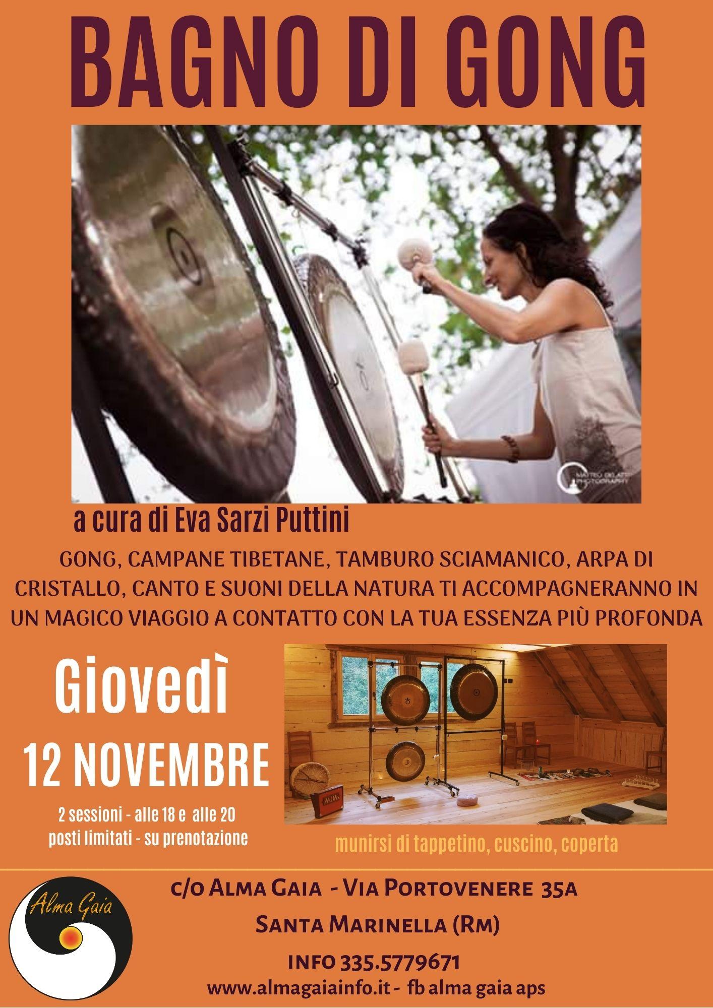 BAGNO DI GONG, Giovedì 12 novembre 2020