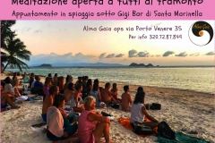 meditazione teamonto spiaggia 18 giugno 2018
