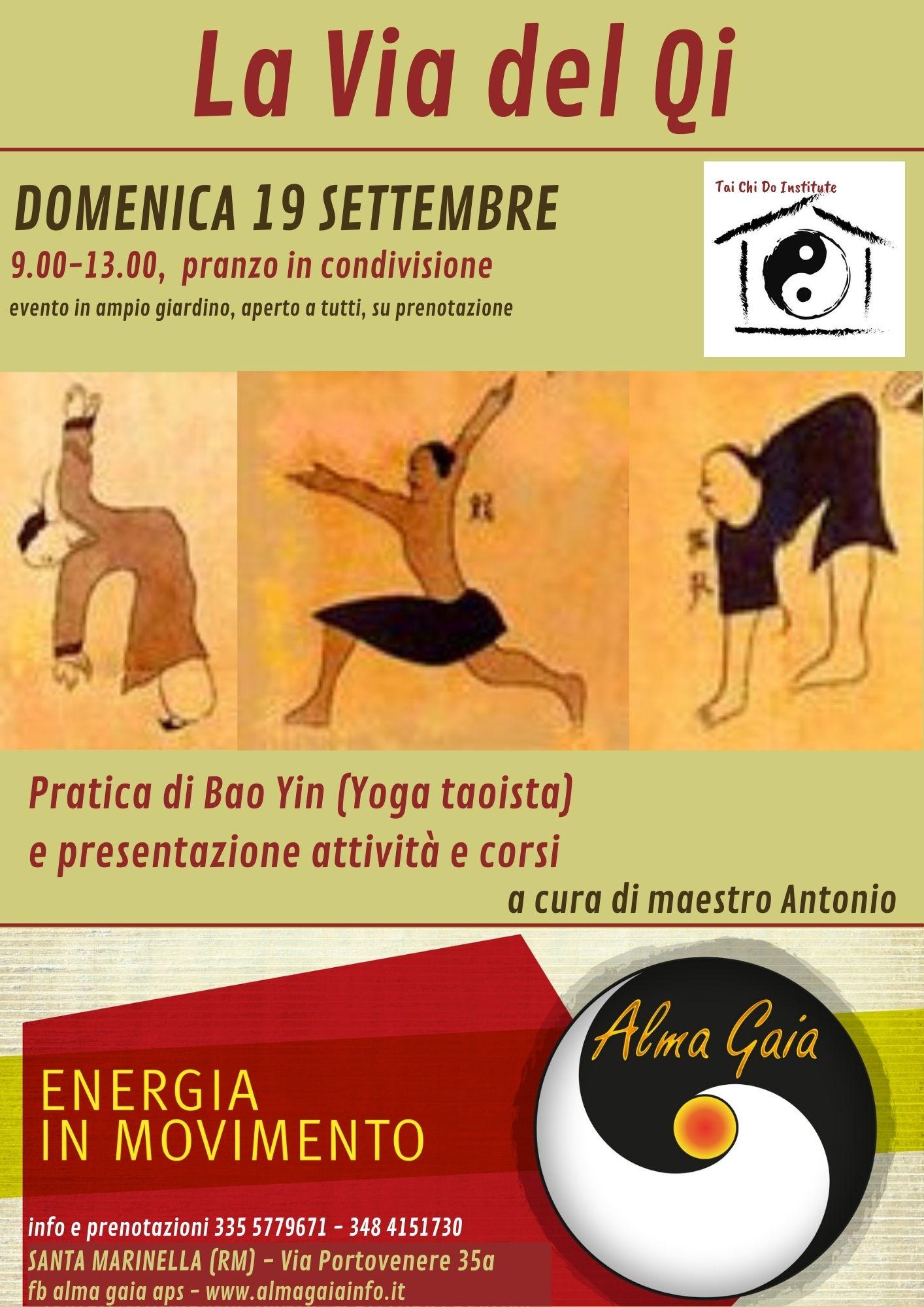 LA VIA DEL QI – pratica di Bao Yin (Yoga taoista) ore 9-13